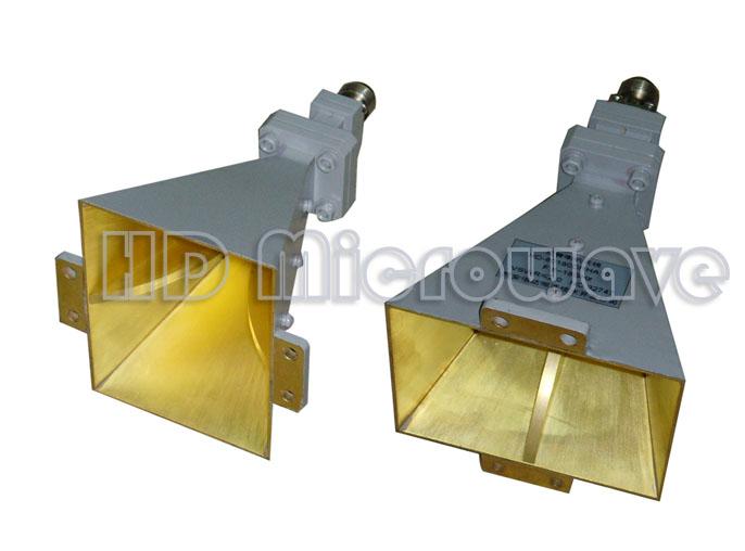 >>脊波导喇叭+脊波导同轴转换器输入型10db倍频程双